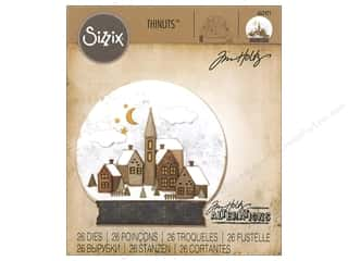 window die: Sizzix Dies Tim Holtz Thinlits Snowglobe #2