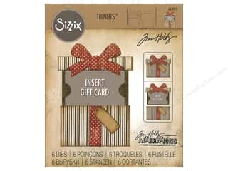 dies: Sizzix Dies Tim Holtz Thinlits Gift Card Package