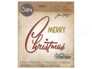 Sizzix Dies Tim Holtz Thinlits Retro Merry Christmas