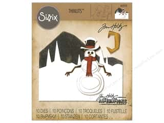 Sizzix Tim Holtz Thinlits Die Set 10 pc. Snowman Scene