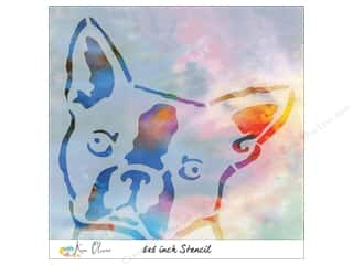 craft & hobbies: Contact Crafts Ken Oliver Stencil 6 in. x 6 in. Boston Terrier