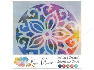 scrapbooking & paper crafts: Contact Crafts Ken Oliver Stencil 6 in. x 6 in.  Starflower Swirl