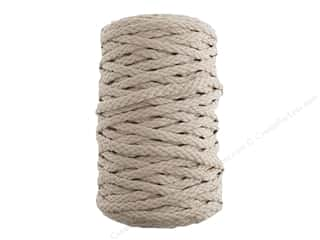 John Bead Braided Macrame Cord 6 mm 70 yd Beige