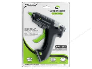 Hot glue gun and glue sticks: Surebonder Glue Gun Mini High Temp USB Battery Charged