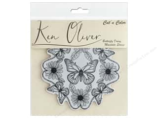 stamp: Contact Crafts Ken Oliver Cut N Color Stamp Butterfly Daisy Mandala