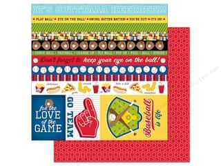 Bella Blvd Baseball Paper 12 in. x 12 in. Borders & Details (25 pieces)