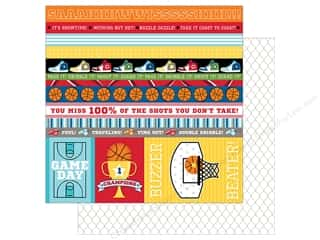 Bella Blvd Basketball Paper 12 in. x 12 in.  Borders & Details (25 pieces)