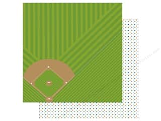 scrapbooking & paper crafts: Bella Blvd Baseball Paper 12 in. x 12 in. America's Pastime (25 pieces)