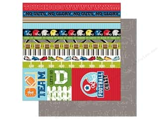 Bella Blvd Football Paper 12 in. x 12 in. Borders & Details (25 pieces)