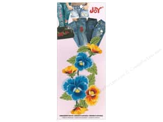 Joy Applique Iron On Pansy Cluster Blue/Yellow