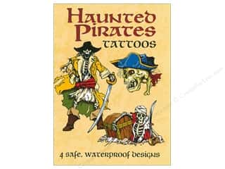books & patterns: Dover Publications Little Haunted Pirates Tattoos Book