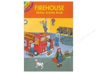 Dover Publications Little Firehouse Sticker Activity Book