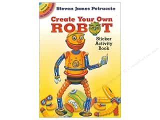 books & patterns: Dover Publications Little Create Your Own Robot Sticker Activity Book