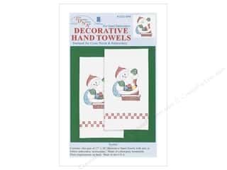 Jack Dempsey Decorative Hand Towel Santa 2 pc