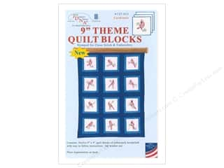 stamps: Jack Dempsey 9 in. Theme Quilt Blocks 12 pc Cardinals