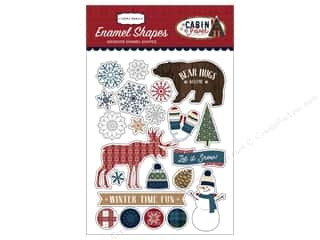 stickers: Carta Bella Collection Cabin Fever Enamel Shapes