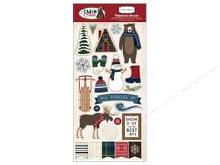 "stickers: Carta Bella Collection Cabin Fever Chipboard 6""x 12"""
