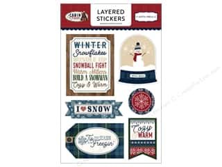 Carta Bella Collection Cabin Fever Sticker Layered