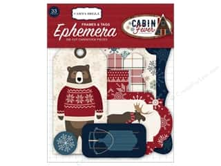 die cuts: Carta Bella Collection Cabin Fever Ephemera Frame & Tags