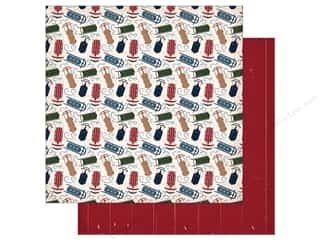 "Carta Bella Collection Cabin Fever Paper 12""x 12"" Sliding Sleds (25 pieces)"
