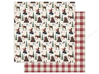 """Carta Bella Collection Cabin Fever Paper 12""""x 12"""" Woodland Creatures (25 pieces)"""
