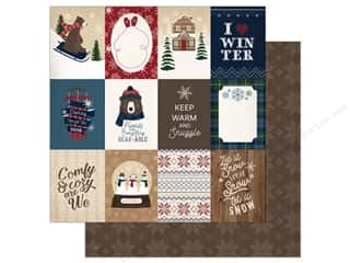 """Carta Bella Collection Cabin Fever Paper 12""""x 12"""" Journal Cards 3""""x 4"""" (25 pieces)"""