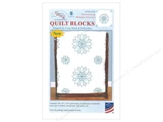 Jack Dempsey Quilt Block 18 in. 6 pc White Mandala Flowers