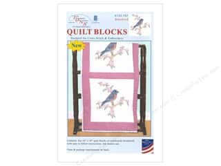 yarn & needlework: Jack Dempsey Quilt Block 18 in. 6 pc White Bluebird