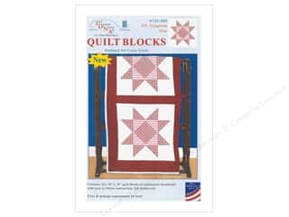 yarn & needlework: Jack Dempsey Quilt Block 18 in. 6 pc White XX Gingham Star