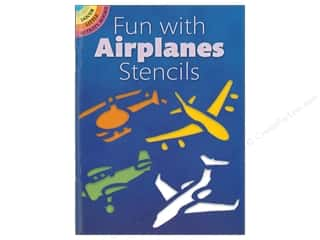 craft & hobbies: Dover Publications Little Fun With Airplanes Stencils Book