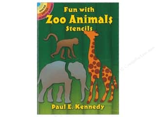 books & patterns: Dover Publications Little Fun With Zoo Animals Stencils Book