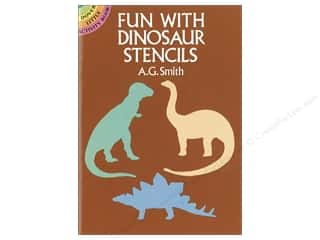Dover Publications Little Fun With Dinosaur Stencils Book
