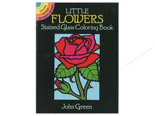 Dover Publications Little Flowers Stained Glass Coloring Book