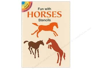 books & patterns: Dover Publications Little Fun With Horses Stencils Book