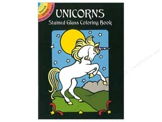 books & patterns: Dover Publications Little Unicorns Stained Glass Coloring Book