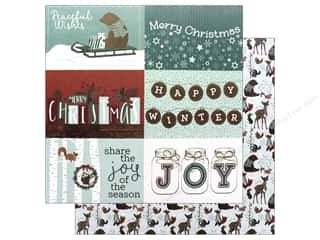 Photo Play Collection Winter Meadow Paper 12 in. x 12 in. Winter Trimming (25 pieces)