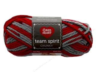 yarn & needlework: Red Heart Team Spirit Chunky Yarn 83 yd. #9988 Red/Grey