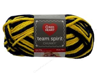 yarn & needlework: Red Heart Team Spirit Chunky Yarn 83 yd. #9980 Navy/Gold