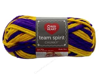 yarn & needlework: Red Heart Team Spirit Chunky Yarn 83 yd. #9956 Purple/Gold