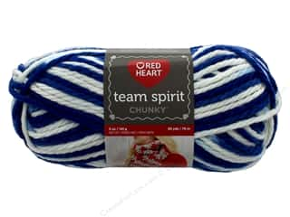 yarn & needlework: Red Heart Team Spirit Chunky Yarn 83 yd. #9947 Royal/White