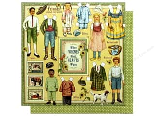 Graphic 45 Collection Penny's Paper Doll Paper 12 in. x 12 in. Forever Friends (25 pieces)