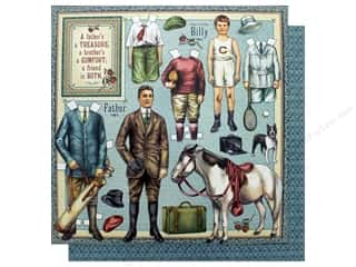 Graphic 45 Collection Penny's Paper Doll Paper 12 in. x 12 in. Fathers & Sons (25 pieces)