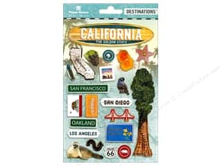 Paper House Sticker 3D Destinations California