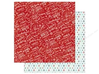 a perfect winter: Echo Park A Perfect Winter Paper 12 in. x 12 in. Welcome Winter (25 pieces)