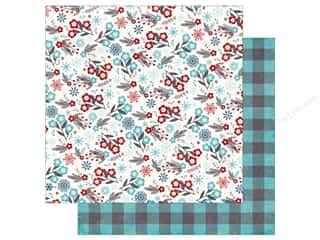 Echo Park A Perfect Winter Paper 12 in. x 12 in. Floral Flurries (25 pieces)