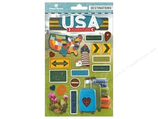 Paper House Sticker 3D Destinations Discover USA