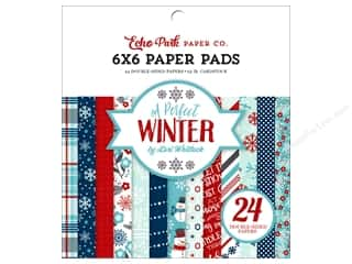 scrapbooking & paper crafts: Echo Park A Perfect Winter Paper Pad 6 in. x 6 in.