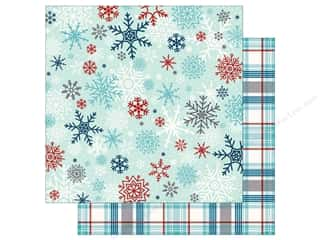 Echo Park A Perfect Winter Paper 12 in. x 12 in. Snowflake Flurry (25 pieces)
