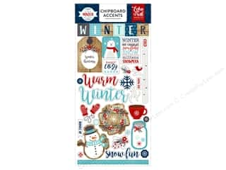 scrapbooking & paper crafts: Echo Park A Perfect Winter Chipboard 6 in. x 12 in.