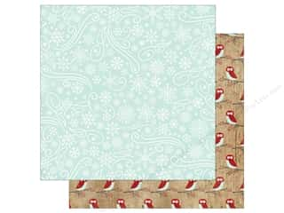 a perfect winter: Echo Park A Perfect Winter Paper 12 in. x 12 in. Snowflake Swirls (25 pieces)